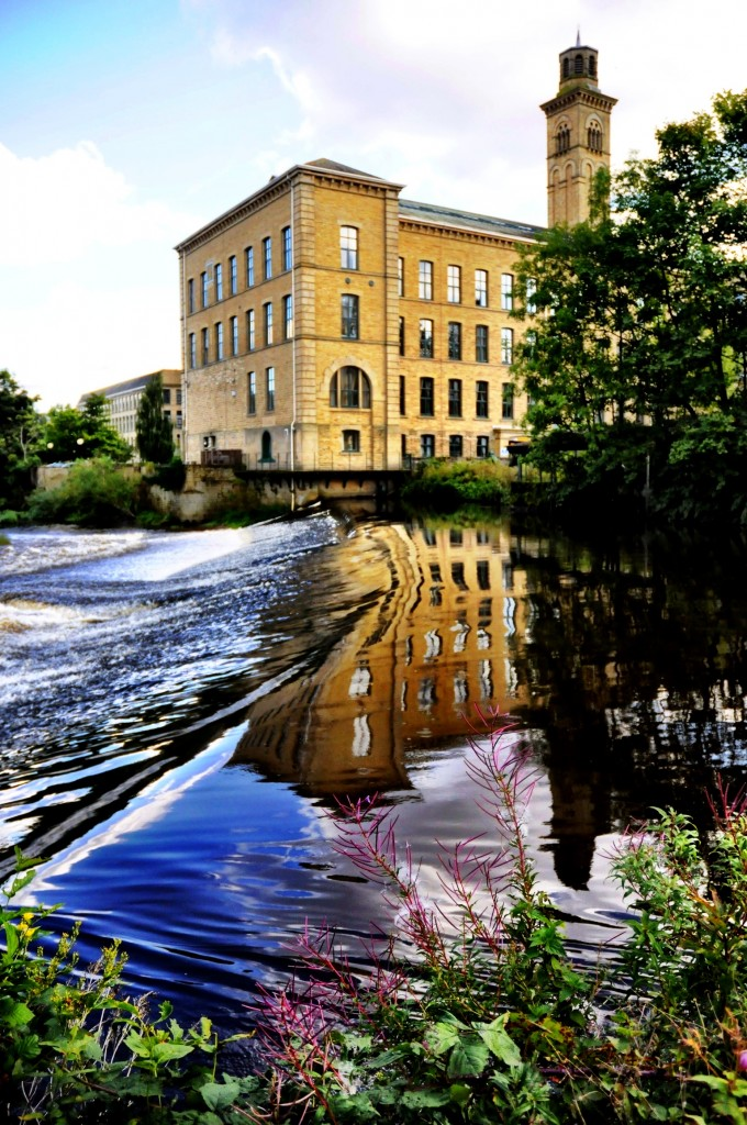 Saltaire Weir and New Mill