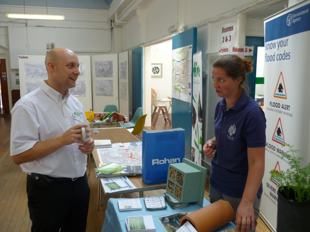 Jonathan Moxon (Environment Agency) with Rebecca Slack (water@leeds)