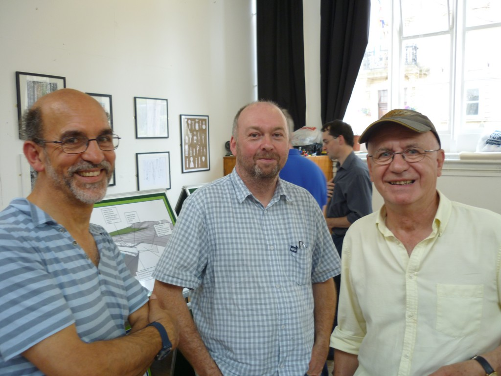 Barney Lerner (Aire Rivers Trust), Danny Jackson (Bradford Council rights of way manager), Kevin Sunderland (ART)