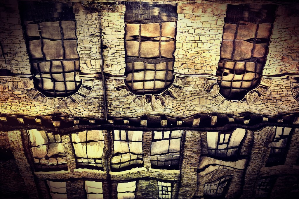 Salts Mill (canal reflection)
