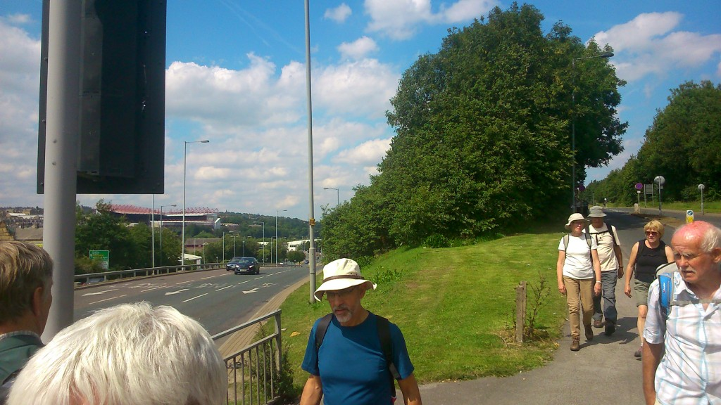 ... we finally popped out of the (thin end of the woods, almost in Bradford city centre!