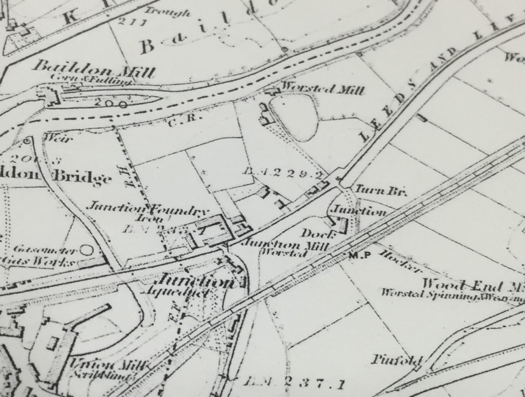 Dockfield 1852 detail of larger Shipley map