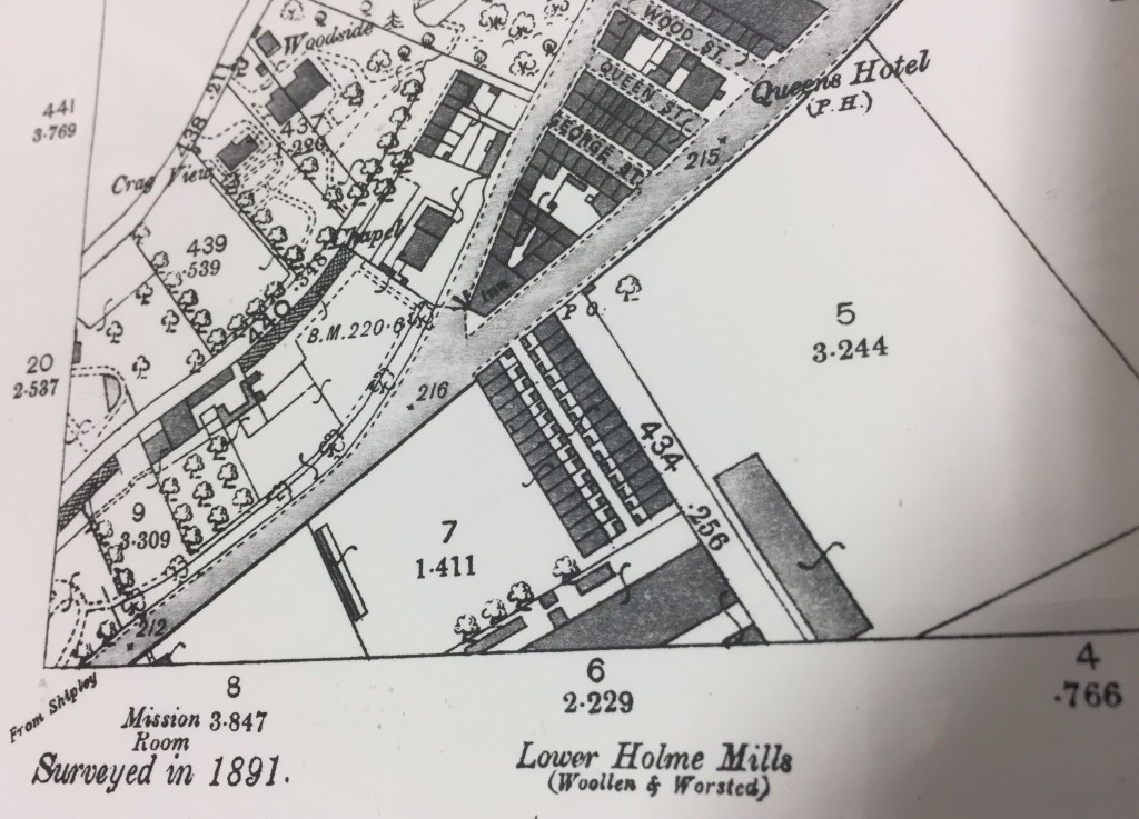 Lower Holme cottages 1891