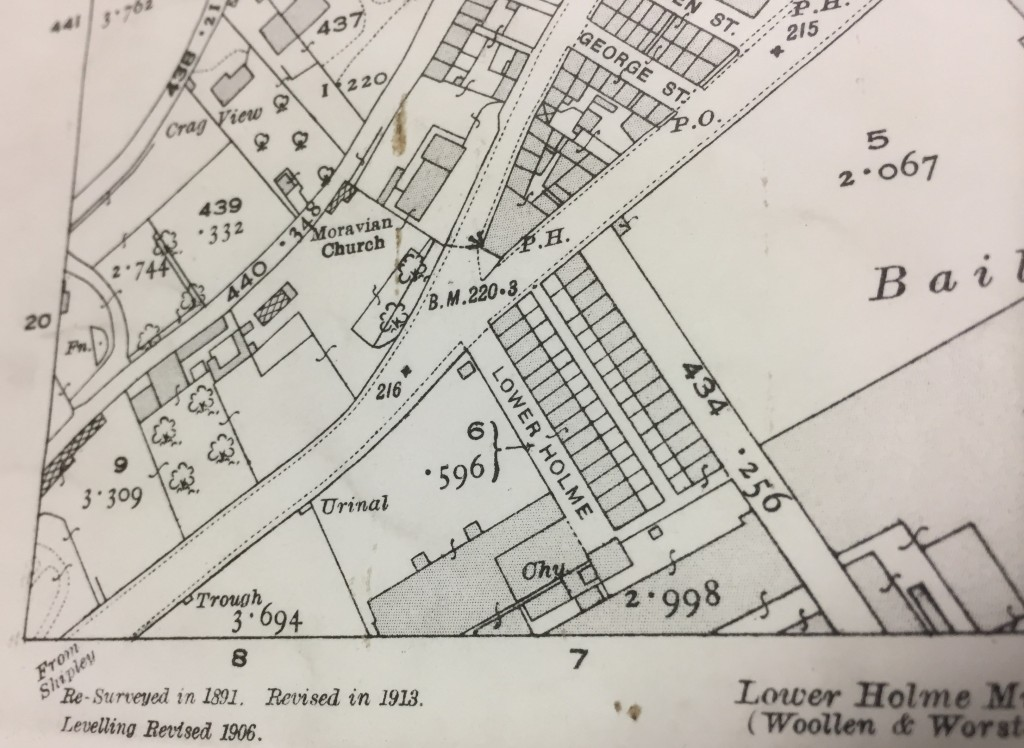 Lower Holme cottages 1913